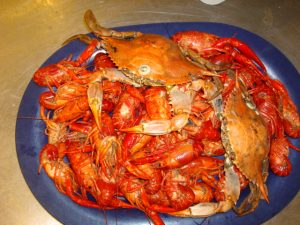 Crawfish and Crab