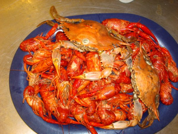 Crawfish and Crab