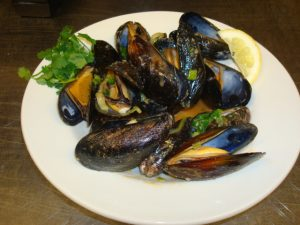 Garlic Buttered Mussels