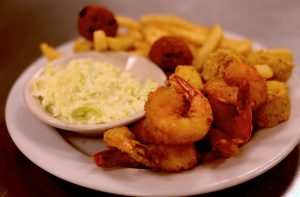 Fried Shrimp Scallops Platter